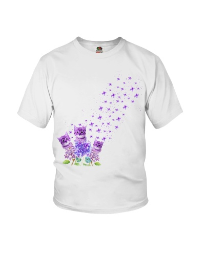 Cat purple tiny flowers
