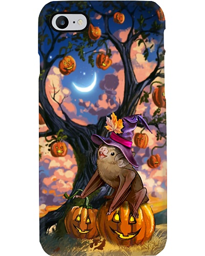Bat under halloween tree phone case