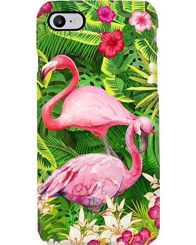 Flamingo tropical phone case