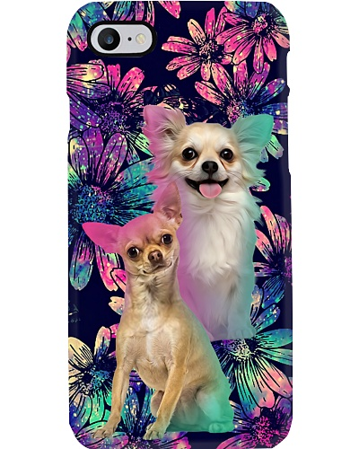 Chihuahua cute daisy galaxy phone case