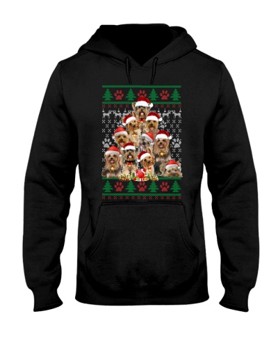 Yorkshire Terrier christmas tree ugly sweater
