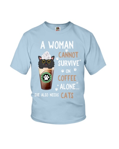 SHN Cannot survive on coffee alone Cat shirt