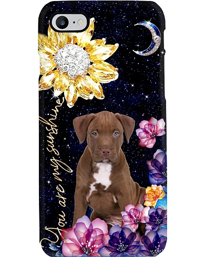 dt 8 Pitbull diamond sunflower phone case