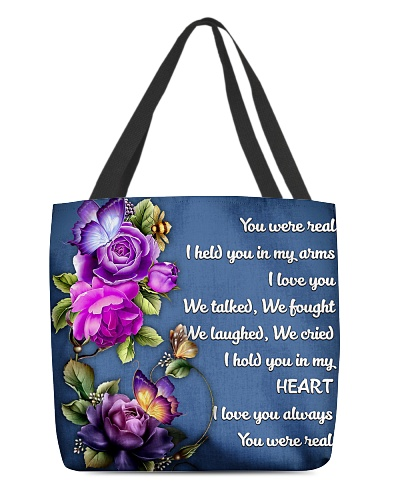 Husband you never real hold in my arms tote bag