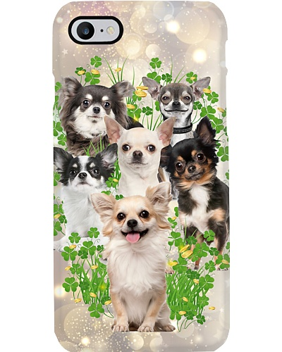 Chihuahua so cute funny patrick's day phone case