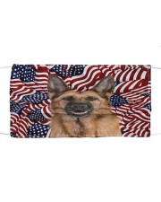 TH 32 German Shepherd In USA Pattern Cloth face mask front