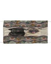 Monica Pug boho pattern Cloth face mask front