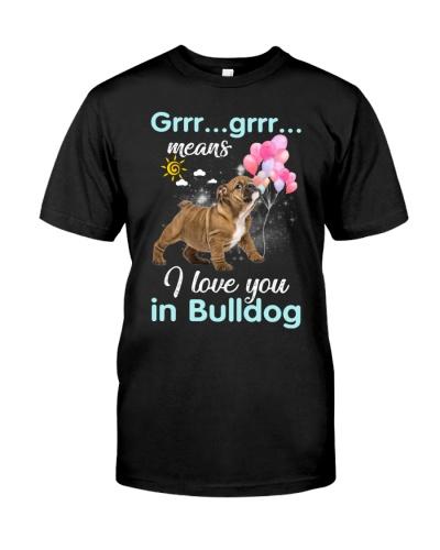 Bulldog i love you