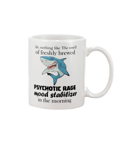 Shark in the morning mug
