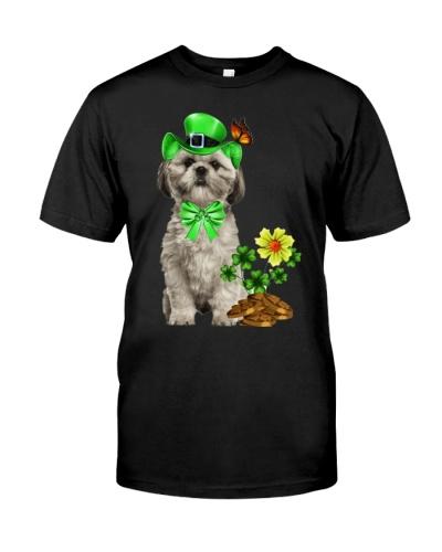 Shihtzu cute happy patrick's day shirt