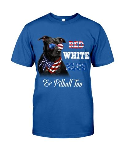 Pitbull Red White Blue