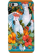 Umbrella Cockatoo In Tropical Forest Phone Case tile