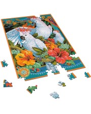 Umbrella Cockatoo In Tropical Forest 250 Piece Puzzle (vertical) aos-jigsaw-puzzle-250-pieces-vertical-front-06