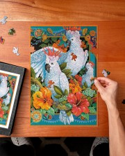 Umbrella Cockatoo In Tropical Forest 250 Piece Puzzle (vertical) aos-jigsaw-puzzle-250-pieces-vertical-lifestyle-front-02