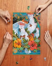 Umbrella Cockatoo In Tropical Forest 250 Piece Puzzle (vertical) aos-jigsaw-puzzle-250-pieces-vertical-lifestyle-front-06