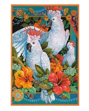 Umbrella Cockatoo In Tropical Forest 250 Piece Puzzle (vertical) front