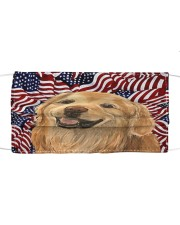 TH 32 Golden Retriever In USA Pattern Cloth face mask front