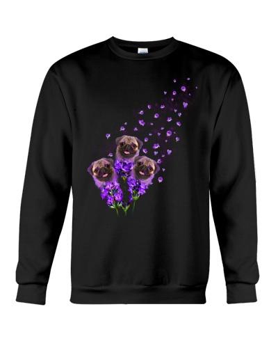 Pug purple tiny flowers