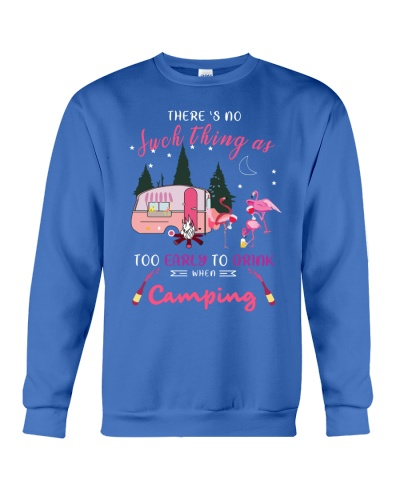 SHN Early to drink when camping Flamingo shirt