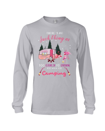 SHN Early to drink when camping Flamingo shirt