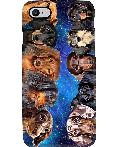 Dachshund galaxy phonecase