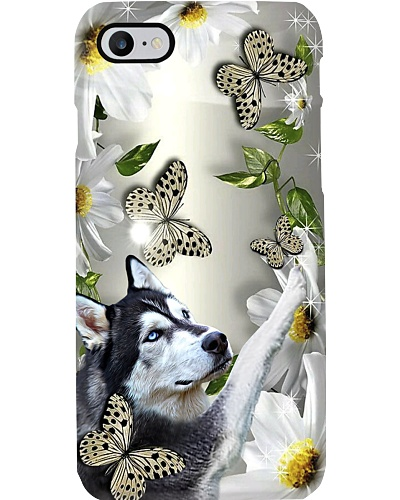 Fn 5 siberian husky daisy and butterfly