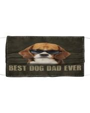 Th 2 Beagle Best Dog Dad Ever Cloth face mask front