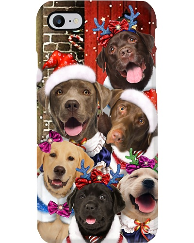 Labrador retriever hello christmas case