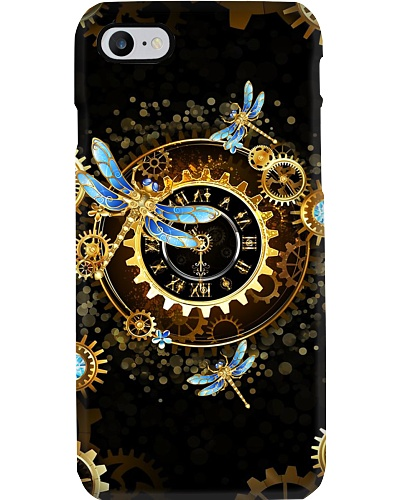 SHN 10 Roman gold clock Dragonfly phone case