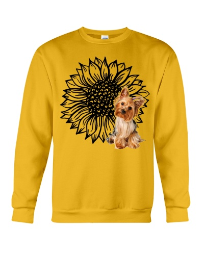 Ln yorkshire terrier and sunflower for life