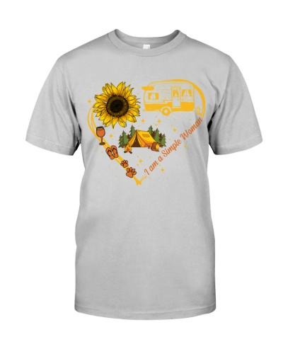 Camping simple woman shirt