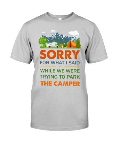 Sorry for what I said while trying to park camper