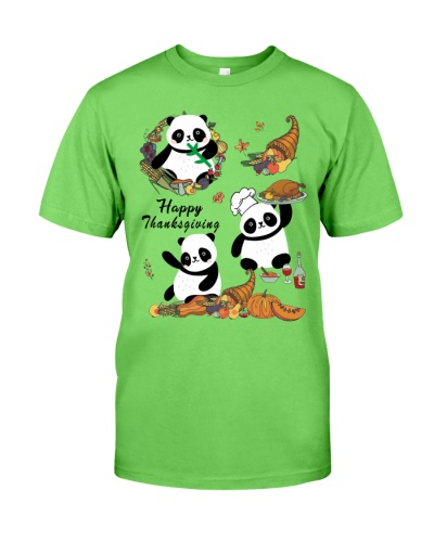 Panda happy thanksgiving