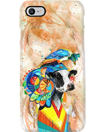 Cow In Aztec Style Phone Case