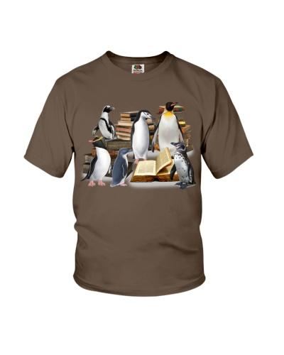 Penguin full of books