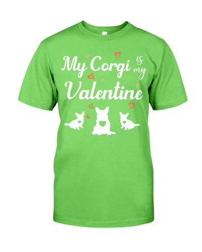 SHN My corgi is my Valentine shirt