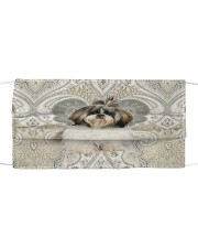 TH 32 Shih Tzu Like Paisley Cloth face mask front
