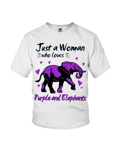 Elephant and purple just a woman