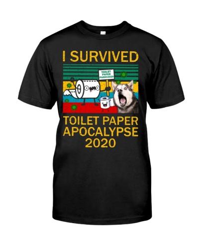 Husky Siberian I Survived Toilet Paper