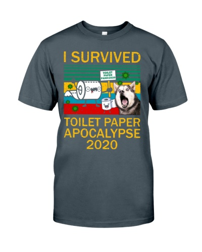 Husky Siberian I Survived Toilet Paper