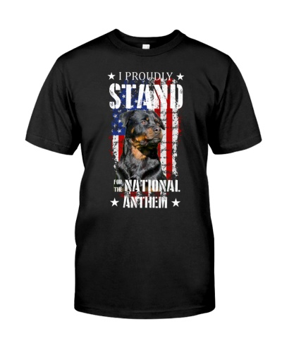 SHN US Proudly stand national anthem Rottweiler