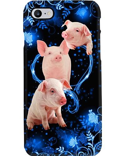 SHN 10 Twinkling blue heart Pig