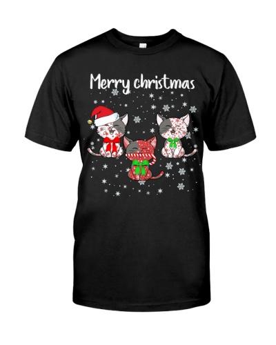 Cat merry christmas shirt