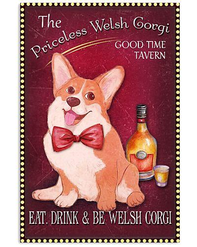 The Priceless Corgi Good Time Tavern Poster