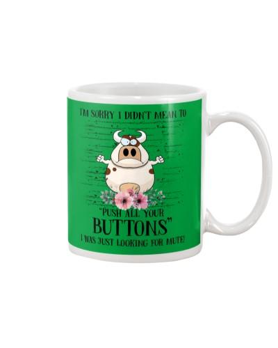 Cow buttons mug
