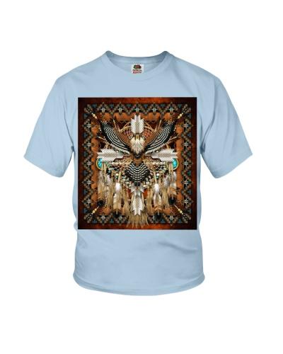 SHN 10 Brown native dreamcatcher pattern Eagle