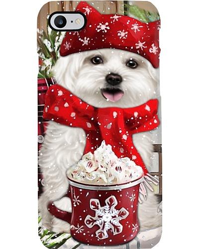 SHN 10 Christmas ice coffee Shih Tzu phone case