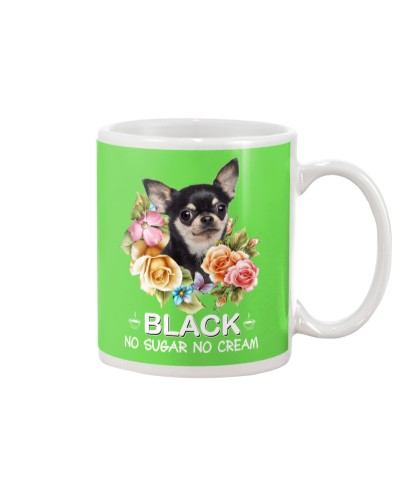 Chihuahua black no sugar no cream mug
