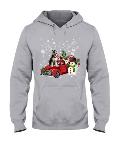 SHN Christmas accessories truck Siberian Husky