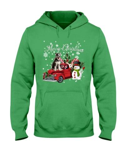 SHN Christmas accessories truck Siberian Husky